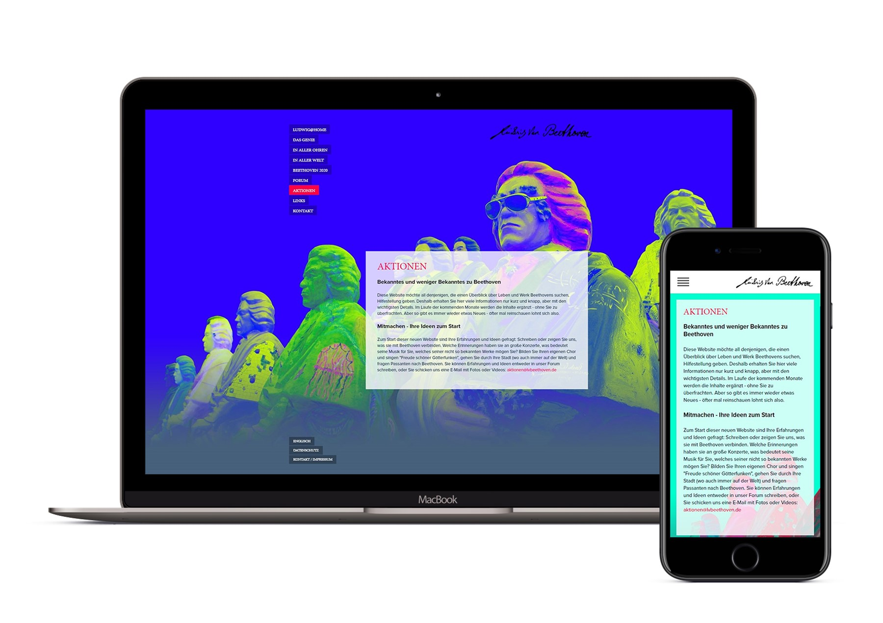 "Responsive Webseite ""Beethoven"""